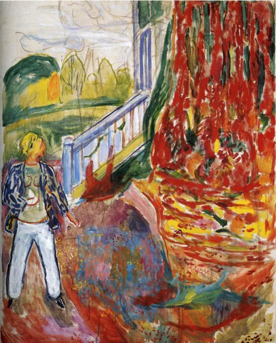 Model in Front of the Verandah - Edvard Munch