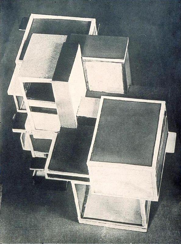 Model of artist's house - Theo van Doesburg