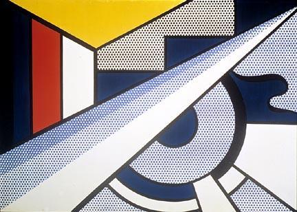 Modern painting with wedge - Roy Lichtenstein