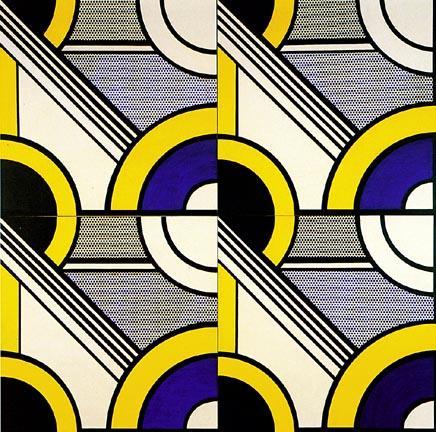 Modular painting with four panels, #1 - Roy Lichtenstein
