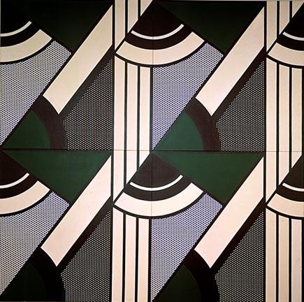 Modular painting with four panels, #6 - Roy Lichtenstein