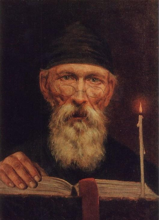 Monk with candle - Vasily Tropinin