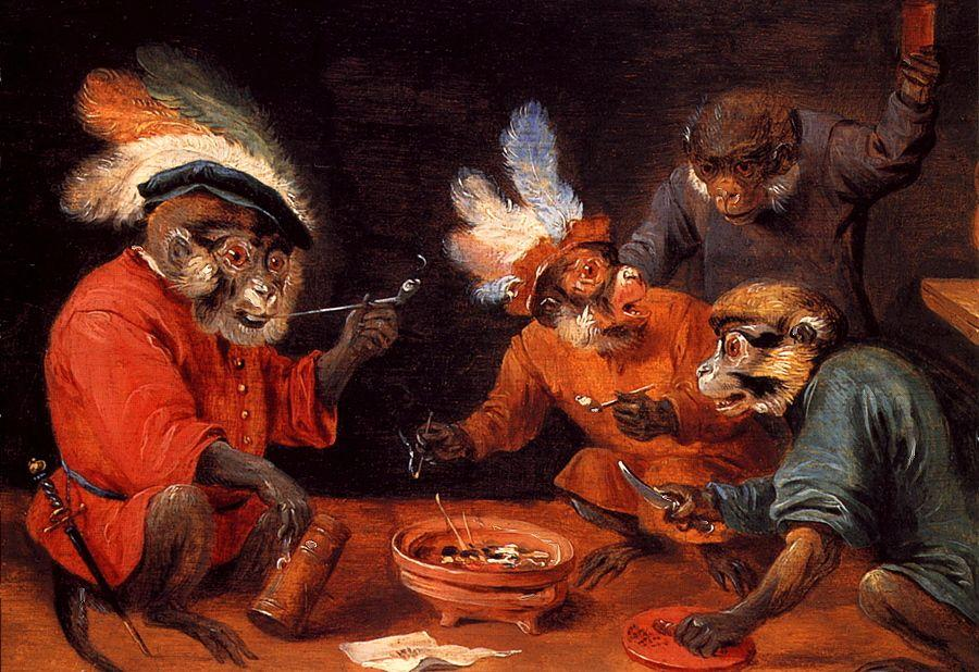 Monkey Tavern - David Teniers the Younger