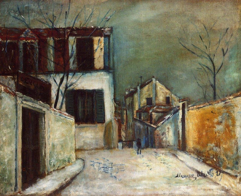 Mont-Cenis street in the Snow - Maurice Utrillo
