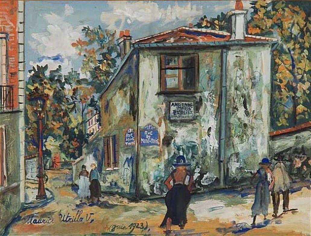 Mont-Cenis street - Maurice Utrillo