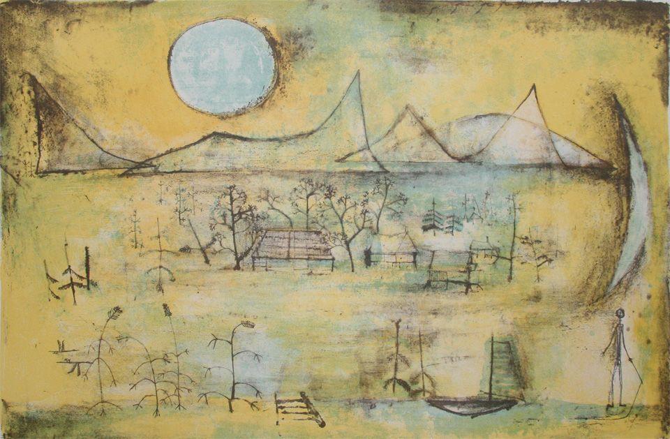 Montagnes et Soleil - Zao Wou-Ki