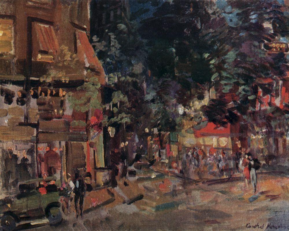 Montmartre in the evening  - Konstantin Korovin