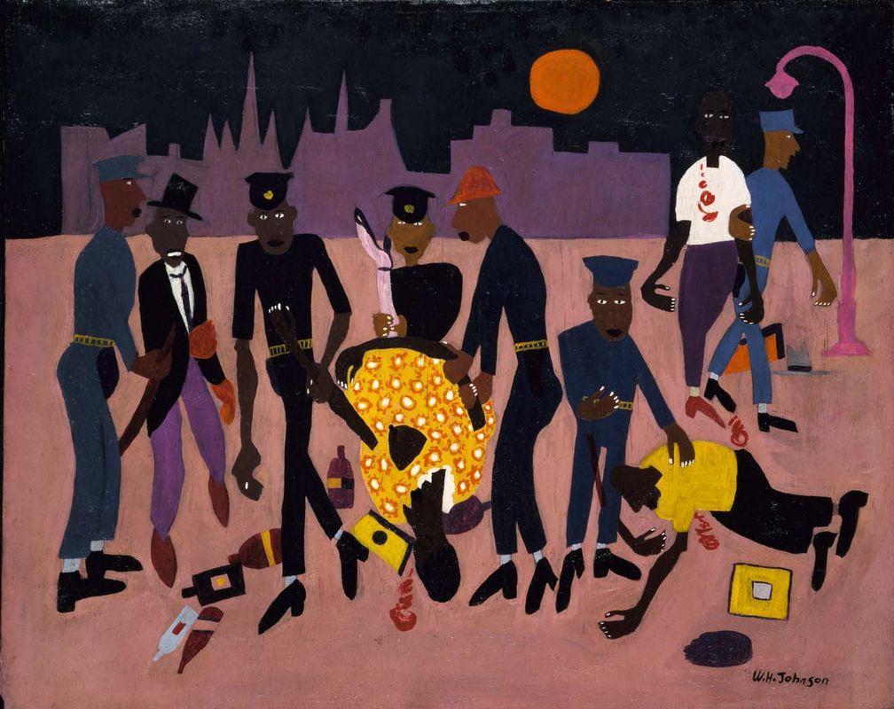 Moon Over Harlem - William H. Johnson