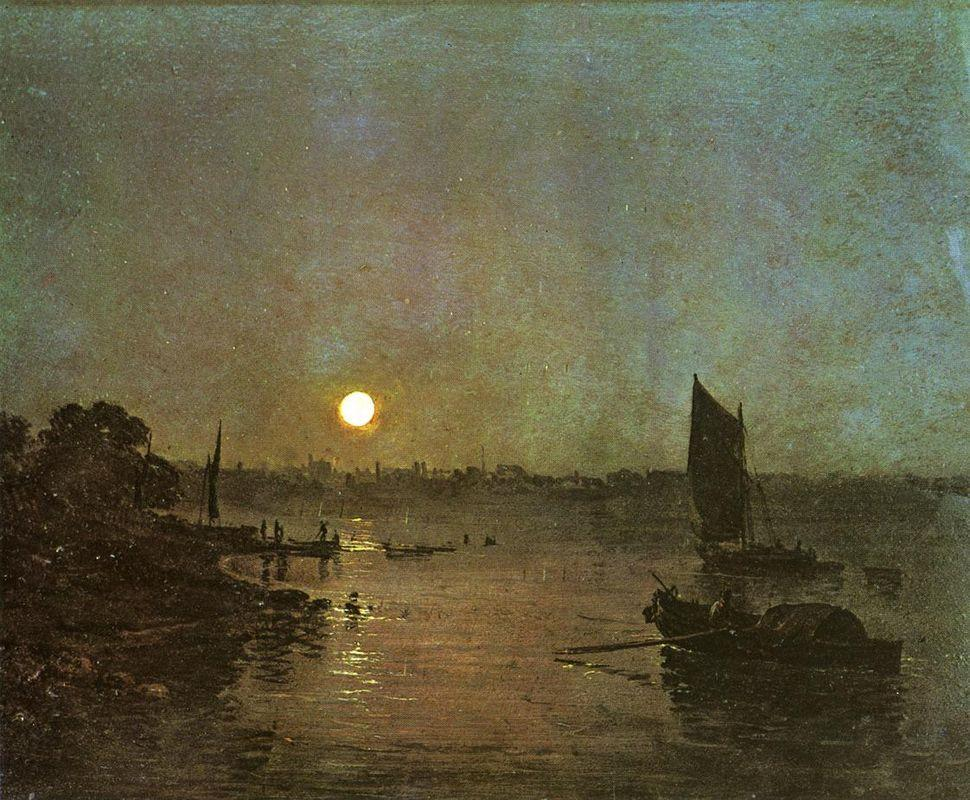 Moonlight, A Study at Millbank - William Turner