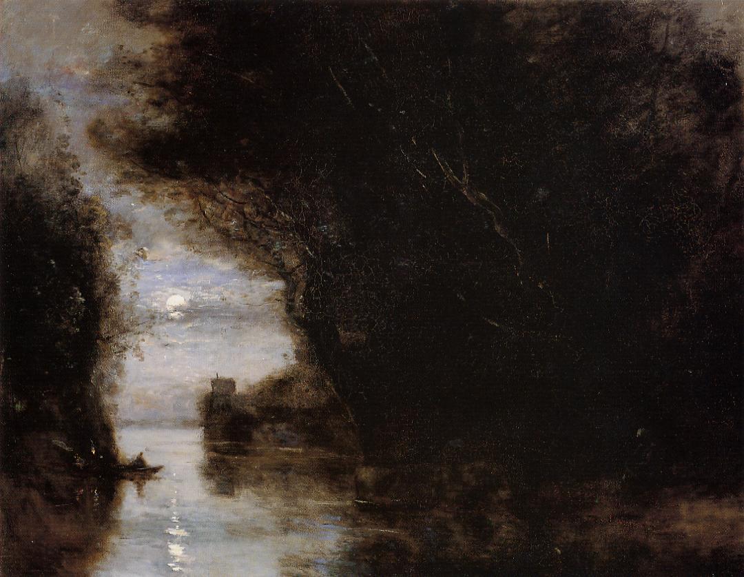 Moonlit Landscape - Camille Corot