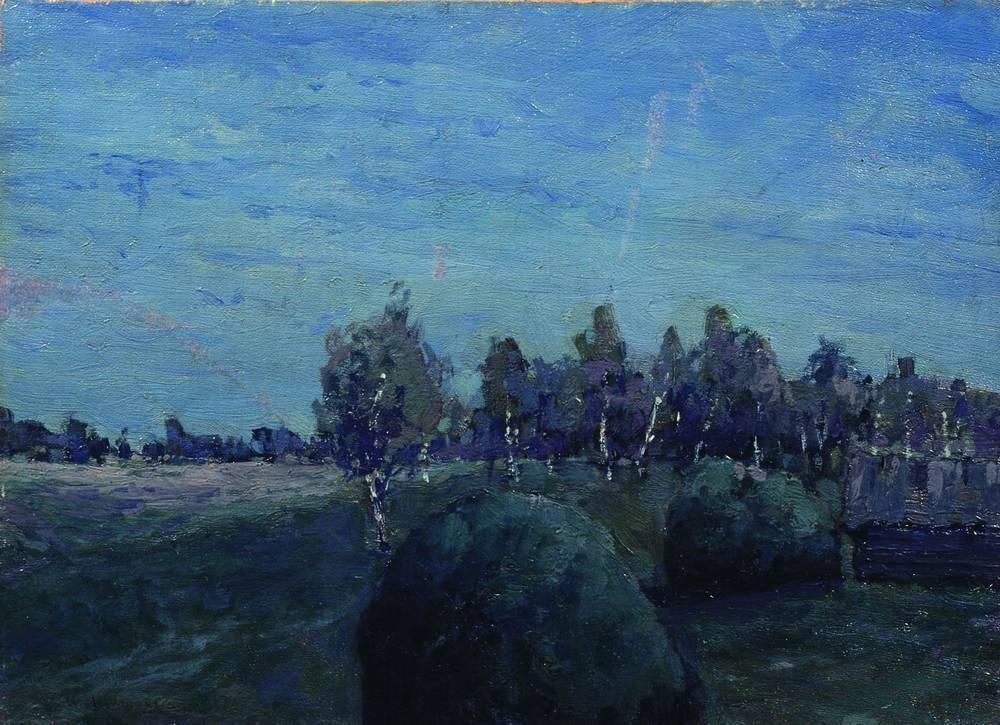 Moonlit Landscape - Albert Bierstadt