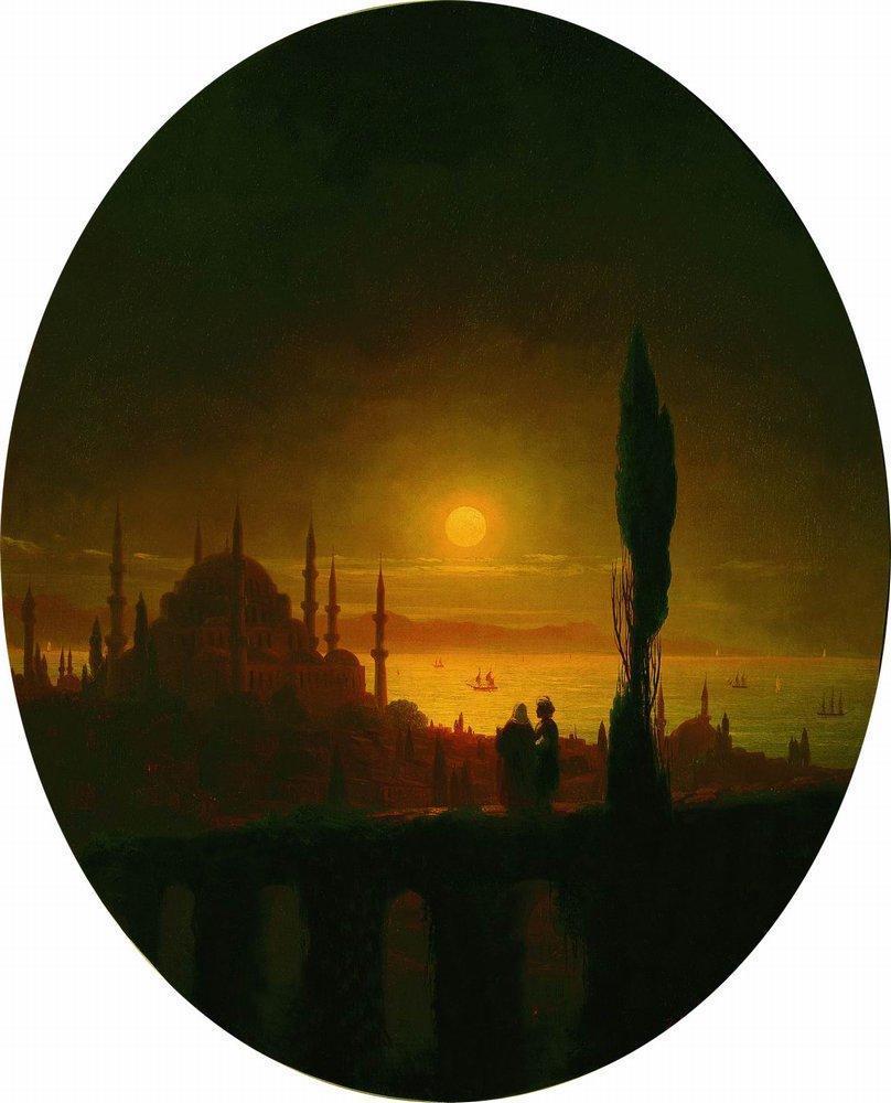 Moonlit night beside the sea - Ivan Aivazovsky