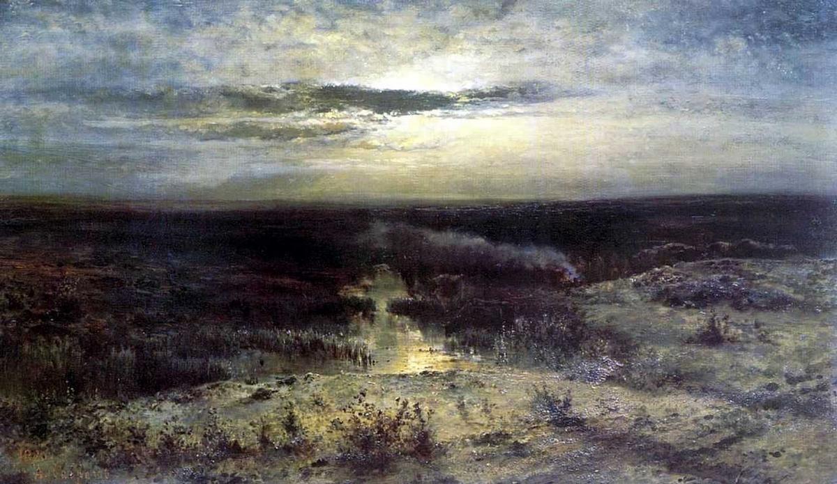 Moonlit night. Marsh - Aleksey Savrasov