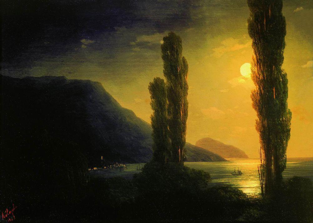 Moonlit night near Yalta - Ivan Aivazovsky