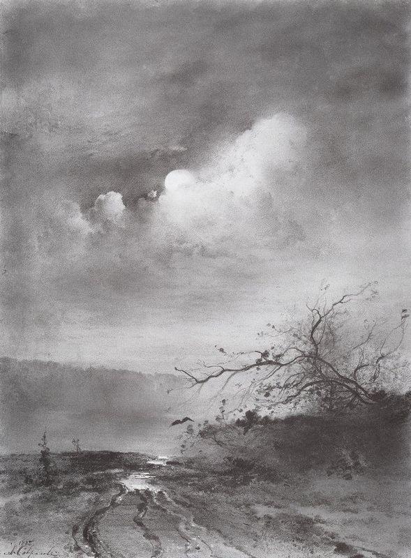 Moonlit Night on the River - Aleksey Savrasov