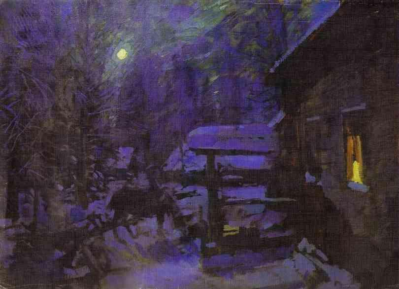 Moonlit Night. Winter - Konstantin Korovin