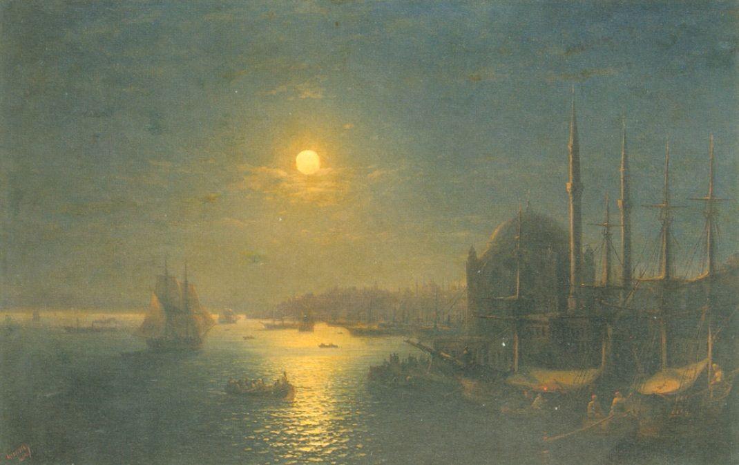 Moonlit view of the Bosphorus - Ivan Aivazovsky