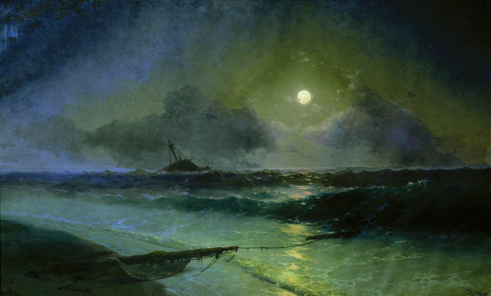 Moonrise in Feodosia - Ivan Aivazovsky
