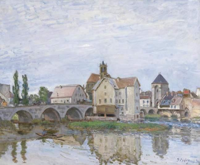Moret on Long Time Gray - Alfred Sisley