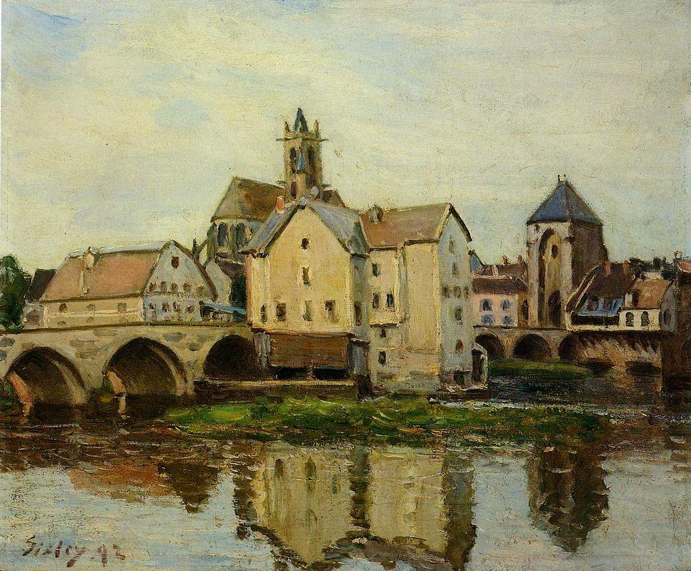 Moret sur Loing, Morning - Alfred Sisley