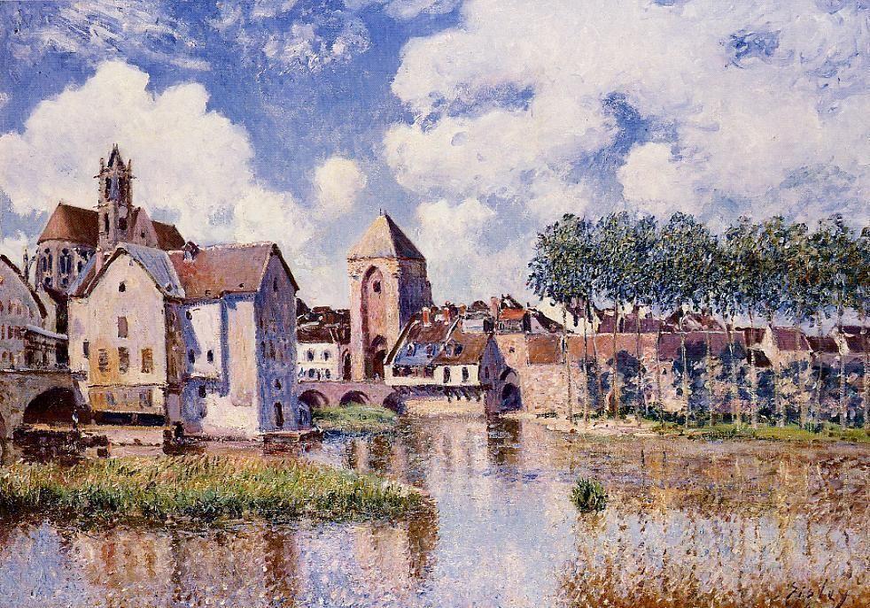 Moret sur Loing the Porte de Bourgogne - Alfred Sisley
