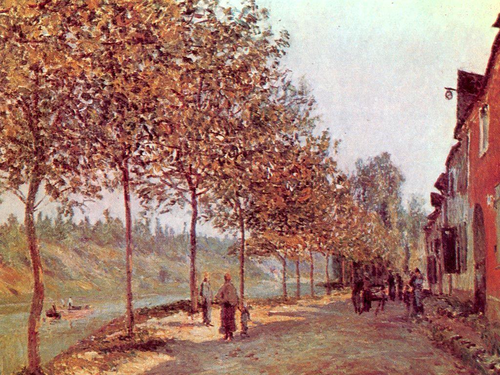 Morning in June (Saint Mammes et les Coteaux de la Celle) - Alfred Sisley