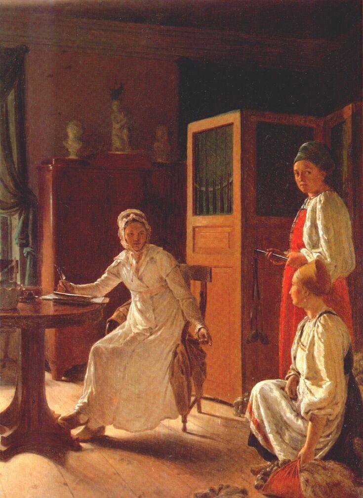 Morning of the Landlady - Alexey Venetsianov