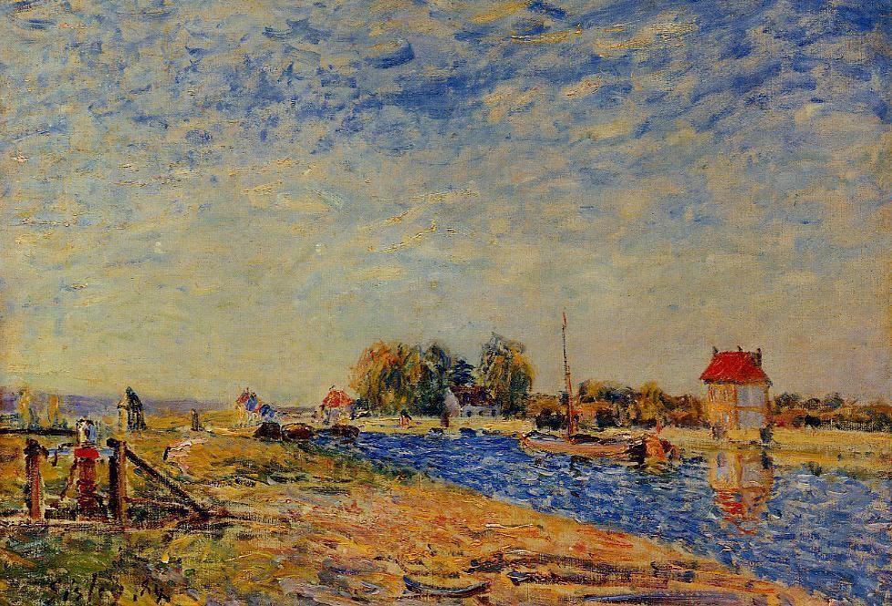 Morning Sun, Saint Mammes - Alfred Sisley