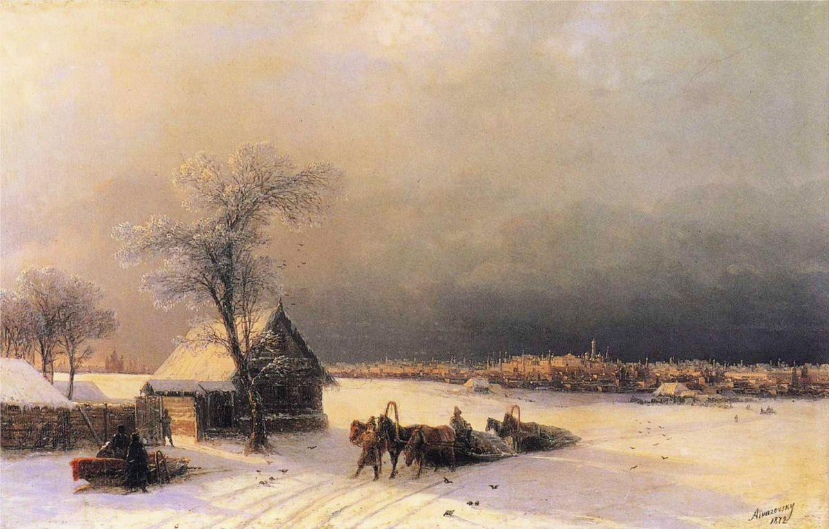 Moscow in Winter from the Sparrow Hills   - Ivan Aivazovsky