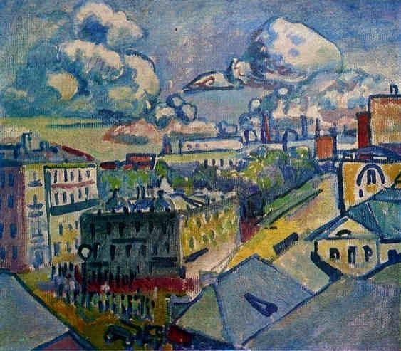 Moscow. Zubovskaya Square. Study. -  Wassily Kandinsky