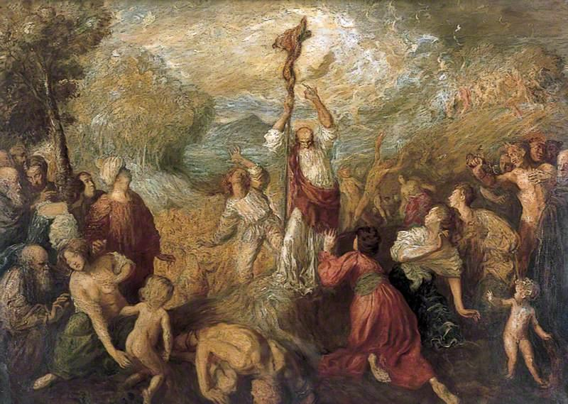 Moses and the Brazen Serpent - Augustus John