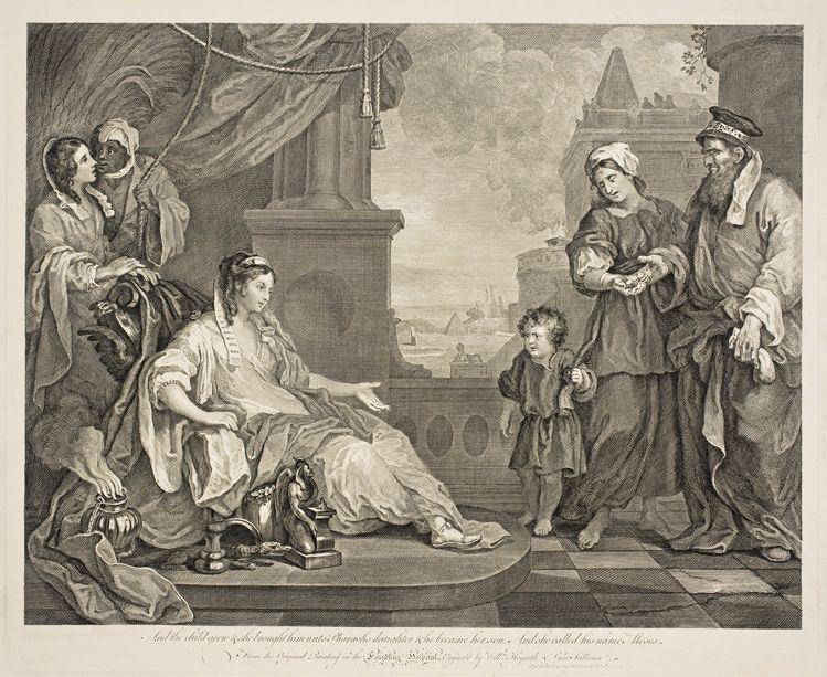 Moses Brought to the Pharaoh's Daughter - William Hogarth