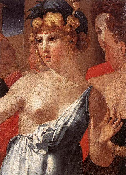 Moses Defending the Daughters of Jethro (detail) - Rosso Fiorentino