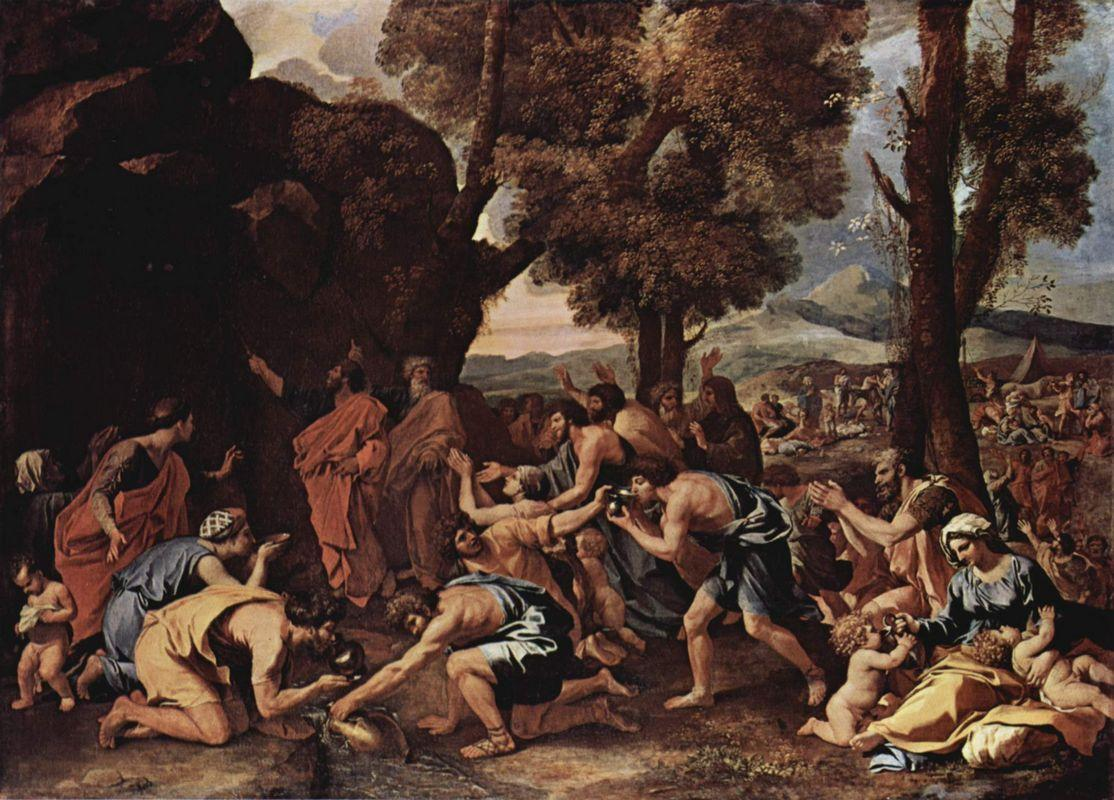 Moses Striking Water from the Rock - Nicolas Poussin
