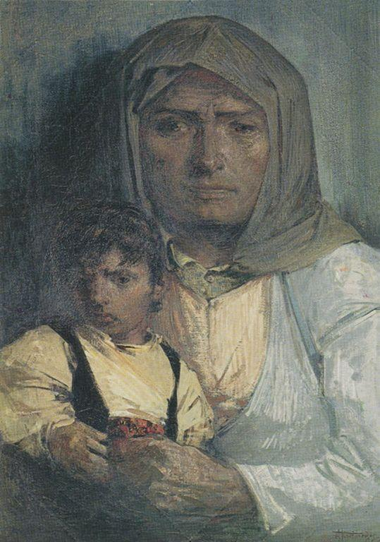 Mother and Child - Alekos Kontopoulos