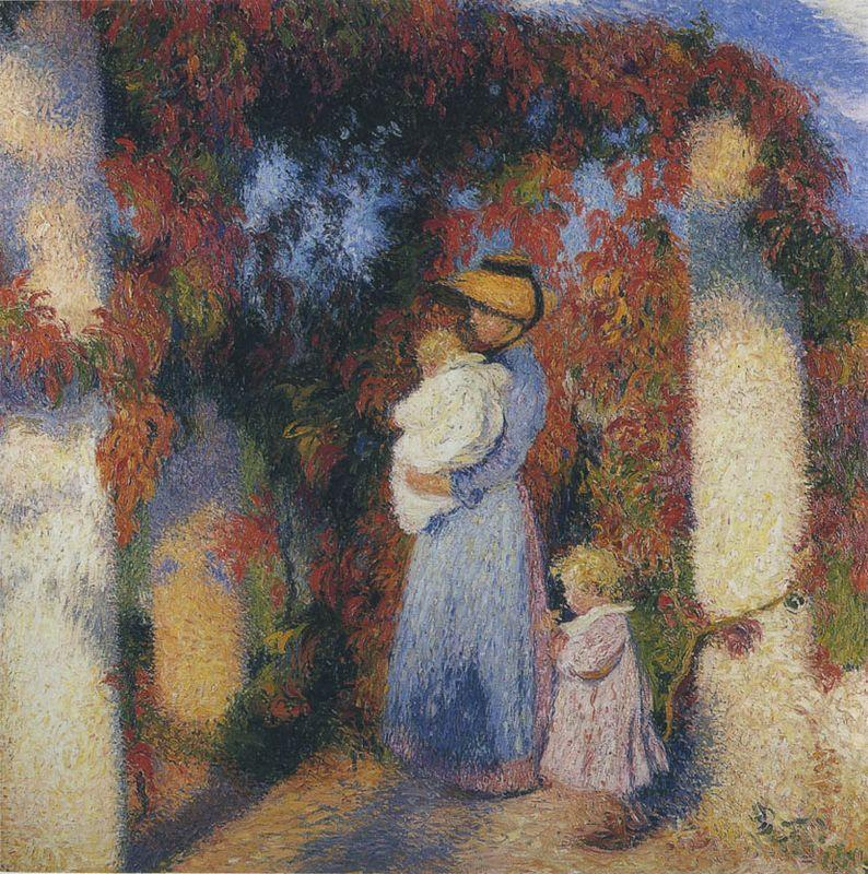 Mother and Child in Pergola at Marquayrol - Henri Martin