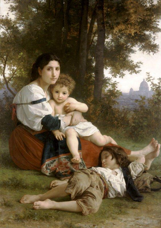 Mother and Children - William-Adolphe Bouguereau