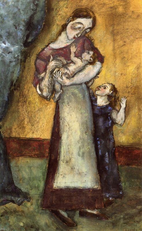 Mother and Children - Marcel Janco