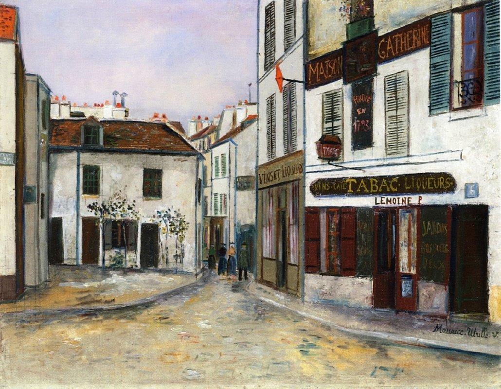Mother Catherine's Restaurant in Montmartre - Maurice Utrillo