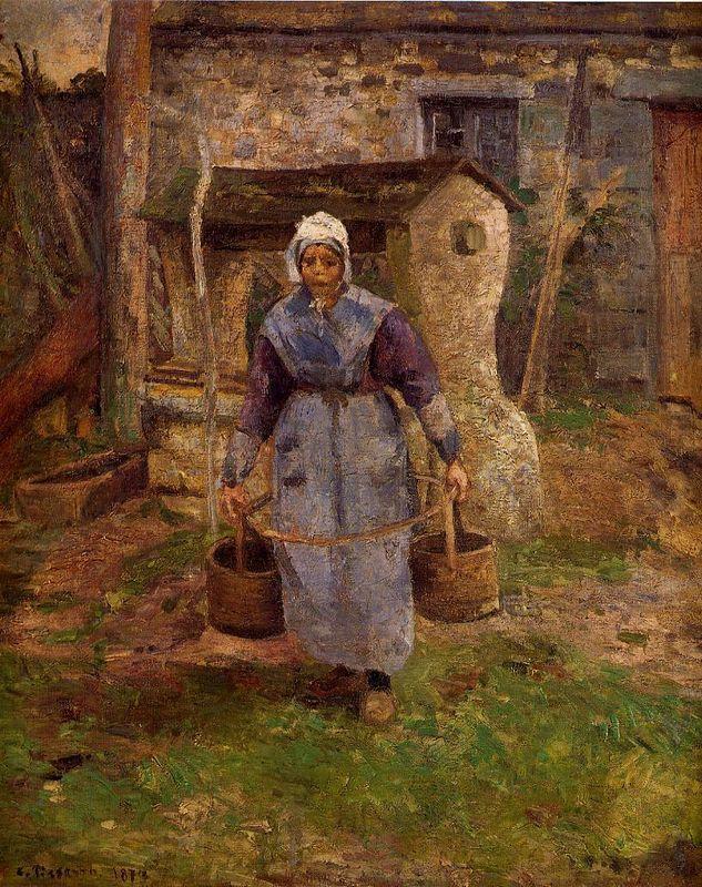 Mother Presle, Montfoucault - Camille Pissarro