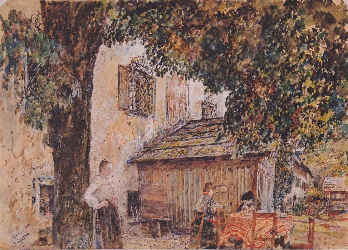 Motif from Goisern - Rudolf von Alt