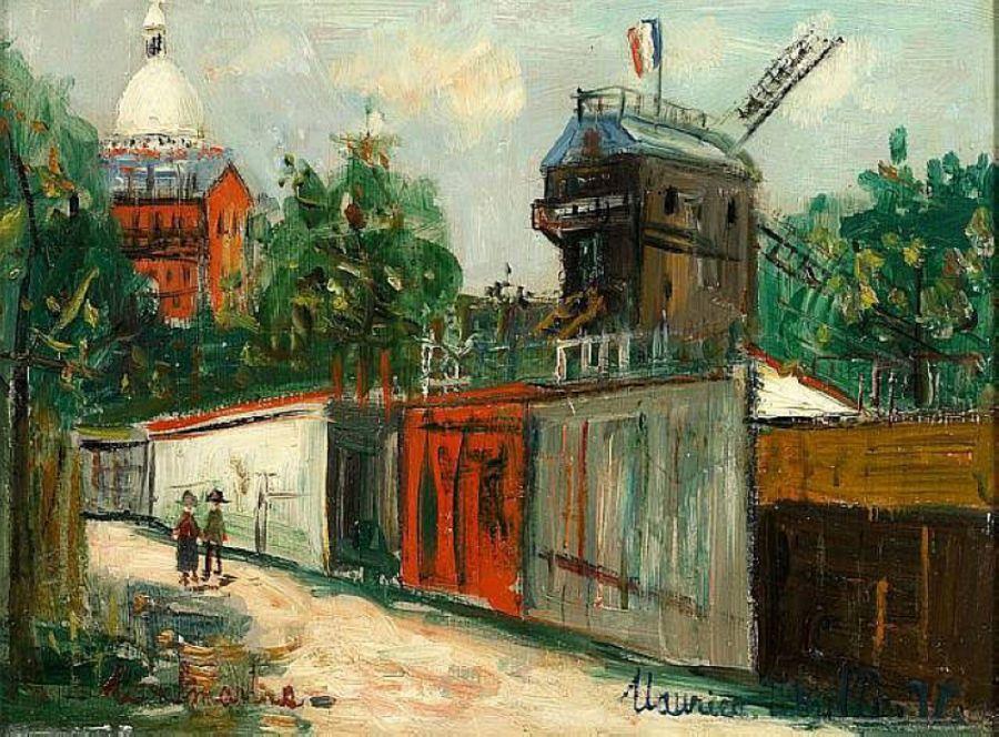 Moulin de la Galette and Sacre-Coeur - Maurice Utrillo