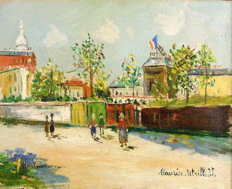 Moulin de la Galette on Montmartre - Maurice Utrillo