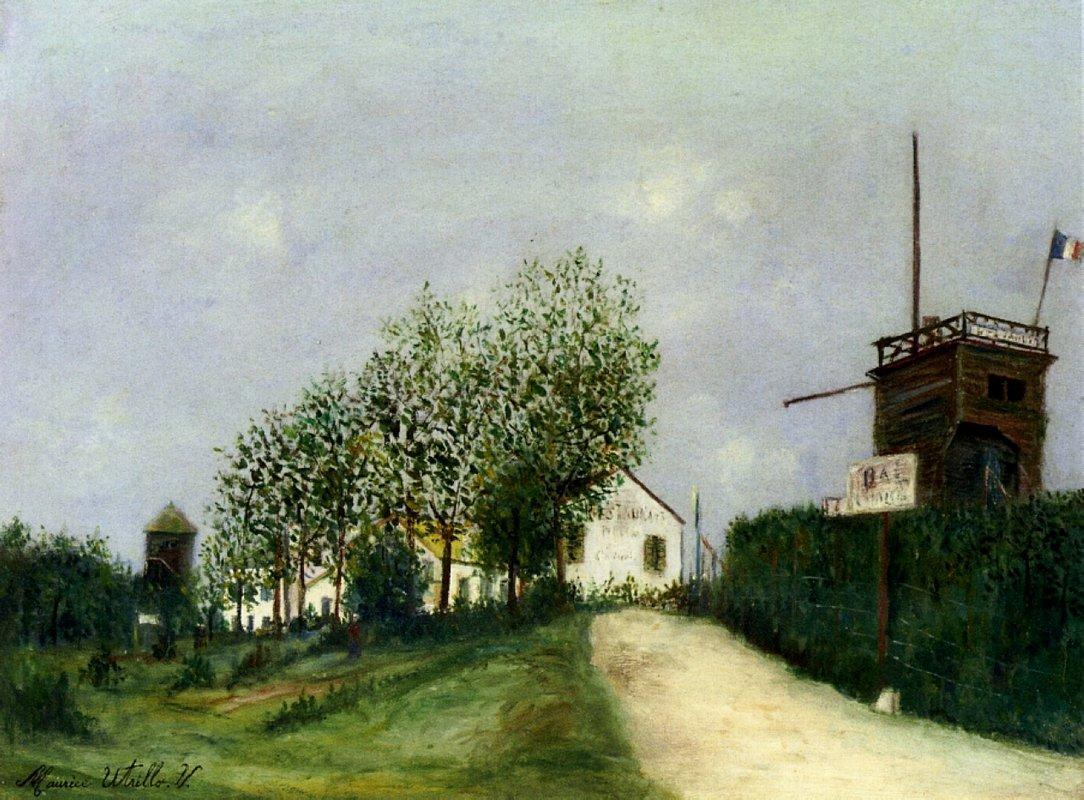 Moulin in Sannois - Maurice Utrillo