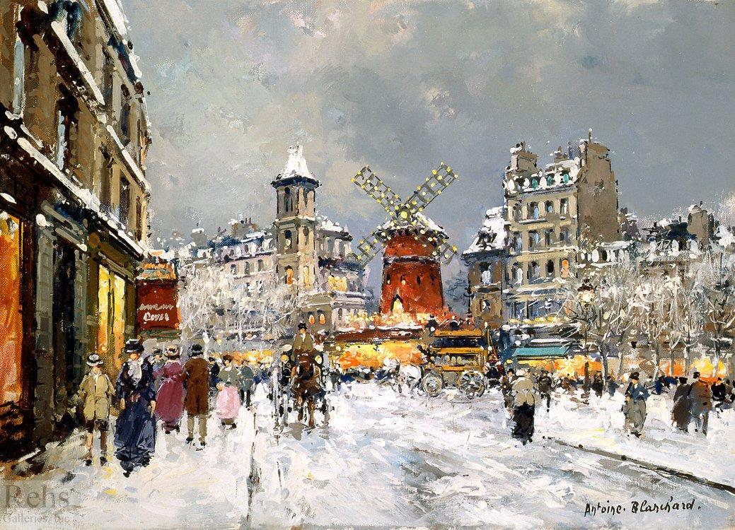 Moulin Rouge, a pigalle sous la neige - Antoine Blanchard