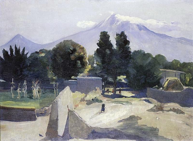 Mount Ararat from the village Mhchan - Martiros Saryan