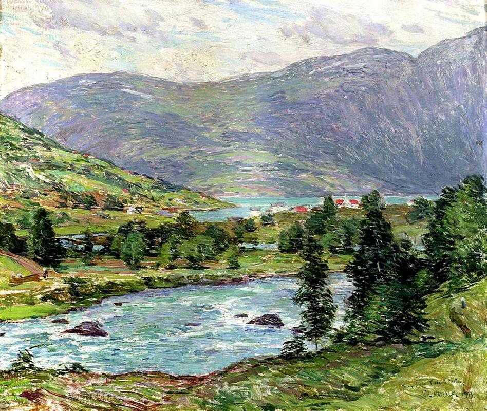 Mountain Lakes, Olden, Norwas - Willard Metcalf