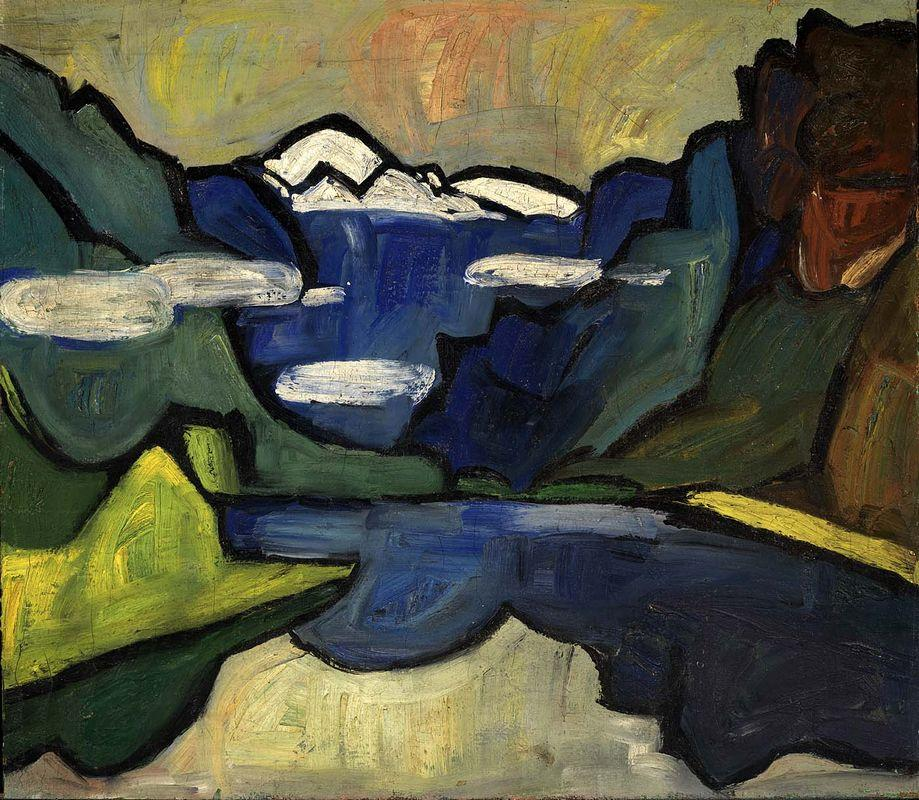 Mountains and Sea, Hardanger Fjord, Norway - William H. Johnson