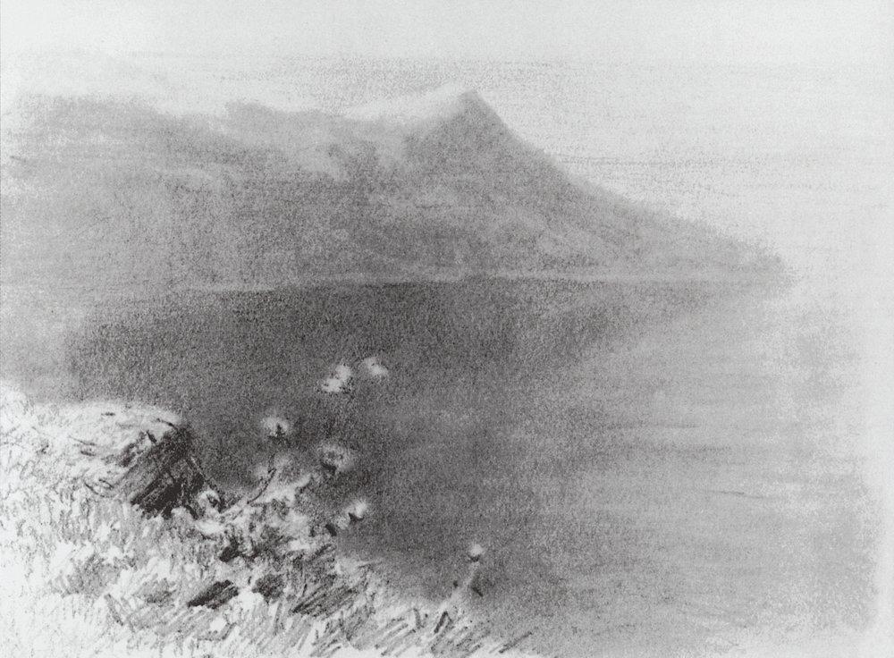 Mountains on the shore - Arkhip Kuindzhi