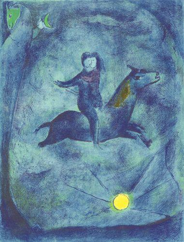 Mounting the ebony horse... - Marc Chagall
